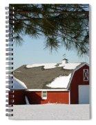 Snowy Barn-0087 Spiral Notebook