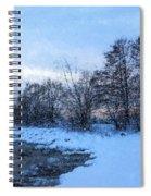 Snowy Beach Impressions Spiral Notebook