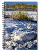 Snowy Beach Spiral Notebook