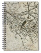Snowy Bird Spiral Notebook