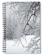 Snowy Branches Spiral Notebook