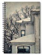 Snowy Brick House Spiral Notebook