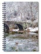 Snowy Bridge Along The Wissahickon Spiral Notebook