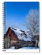 Snowy Cabin Spiral Notebook