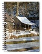 Snowy Cabins Spiral Notebook
