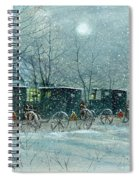 Snowy Carriages Spiral Notebook