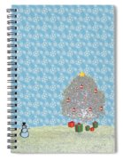 Snowy Christmas Spiral Notebook