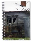 Snowy Day At The Old House Spiral Notebook