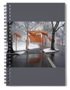 Snowy Day In Central Park Spiral Notebook