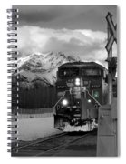 Snowy Engine Through The Rockies Spiral Notebook