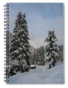 Snowy Fir Trees  Spiral Notebook