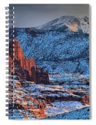 Snowy Fisher Towers Spiral Notebook