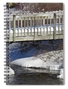 Snowy Foot Bridge Spiral Notebook