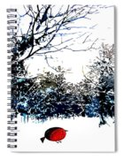 Snowy Forest At Christmas Time Spiral Notebook