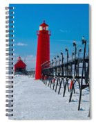 Snowy Grand Haven Pier Spiral Notebook