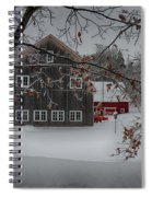 Snowy Grey And Red Spiral Notebook