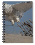 Snowy In Flight Spiral Notebook