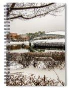 Snowy Landscape At Symphony Park Charlotte North Carolina Spiral Notebook