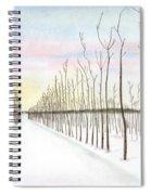 Snowy Lane Spiral Notebook