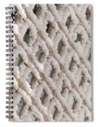 Snowy Lattice Vertical Spiral Notebook