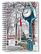 Snowy Morning - Oil Spiral Notebook