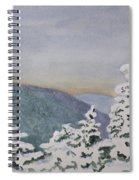 Snowy Mountains Of Nek Spiral Notebook