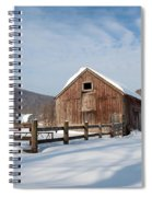 Snowy New England Barns Square Spiral Notebook