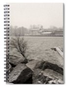 Snowy Owl In Motion Spiral Notebook