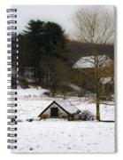 Snowy Pennsylvania Farm Spiral Notebook