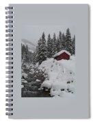 Wyoming Snowy Retreat Spiral Notebook