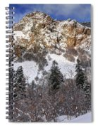 Snowy Ridge Above Bell Canyon - Wasatch Mountains - Utah Spiral Notebook
