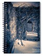 Snowy Ruins At Night Spiral Notebook