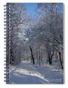 Snowy Trail Spiral Notebook