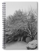 Snowy Trees In Black And White Spiral Notebook
