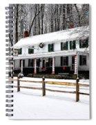 Snowy Valley Green Spiral Notebook