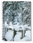 Snowy Wagner's Bridge Spiral Notebook