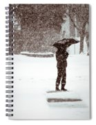 Snowy Walk Spiral Notebook