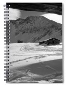 Snowy Window View Spiral Notebook