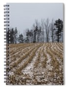Snowy Winter Cornfields Spiral Notebook