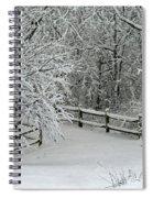 Snowy Winter Spiral Notebook