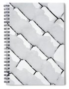 Snowy Wire Netting Spiral Notebook