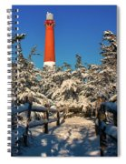 Snowy Woods At Barnegat Light Spiral Notebook