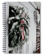 Snowy Wreath  Spiral Notebook