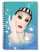 Soap Bubble Woman  Spiral Notebook
