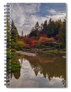 Soaring Autumn Colors In The Japanese Garden Spiral Notebook
