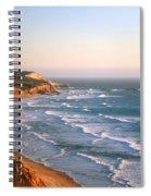 Socal Coastline Sunset Spiral Notebook