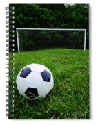 Soccer Ball On Field Spiral Notebook