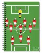 Soccer Team Football Players Spiral Notebook