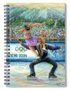 Sochi 2014 - Ice Dancing Spiral Notebook