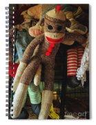 Sock Monkey Spiral Notebook